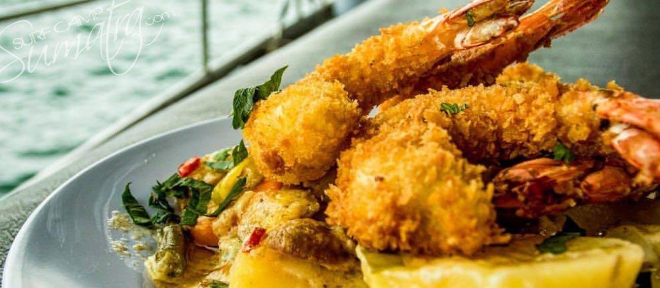 Dinner is served aboard the Bintang
