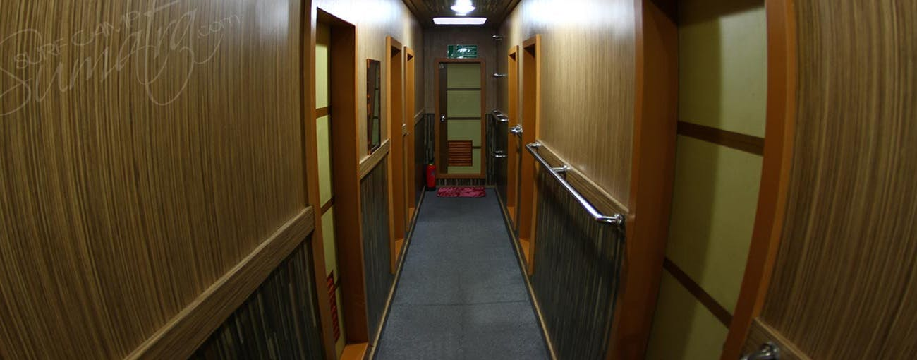 Sleeping quarters hallway