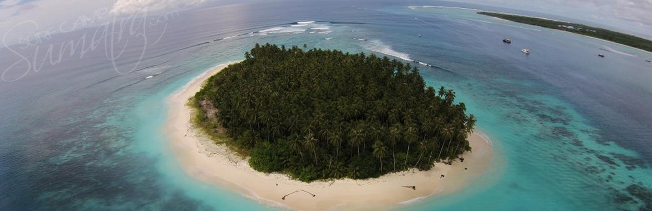 High above in the Mentawai Islands