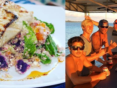 The food is truly off the scale of any standard charter boat