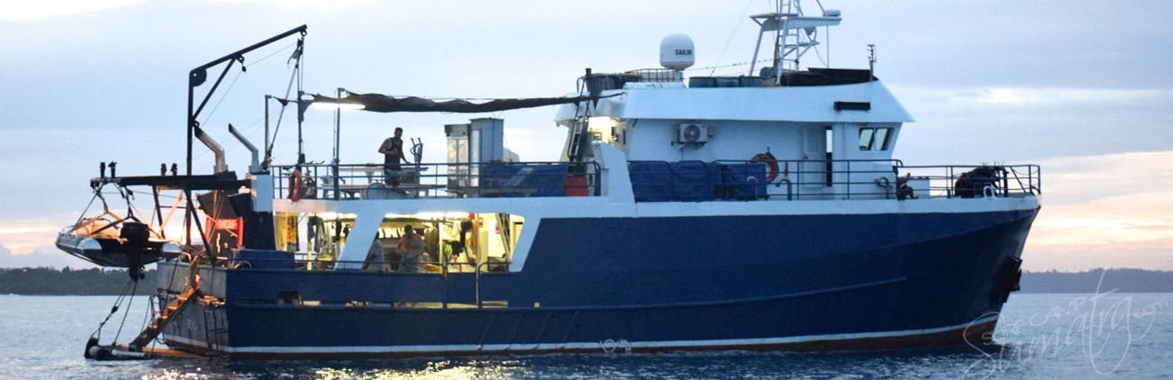 The Santana Laut was converted from a fishing trawler into a surf charter in 2015