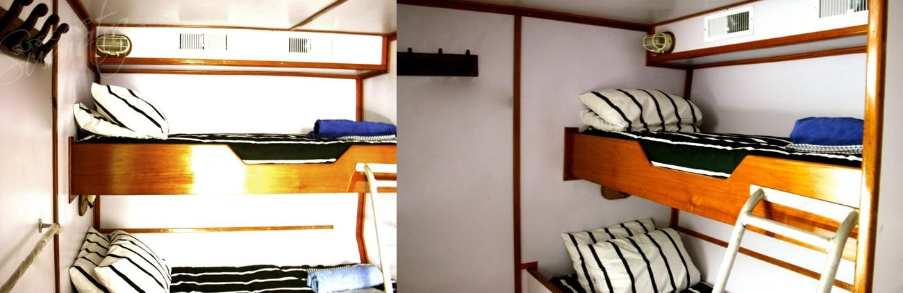 12 beds spread over 8 private cabins