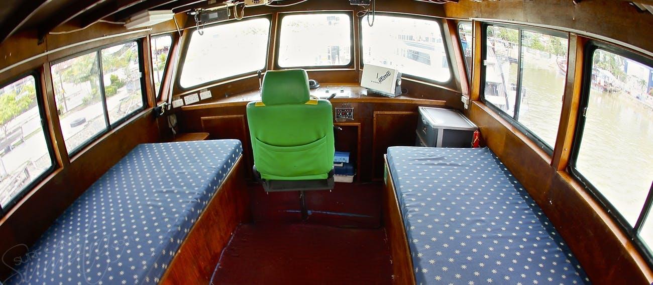 Captains quarters and wheelhouse
