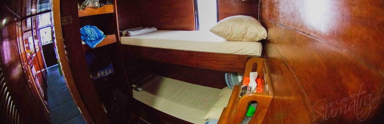 4 x twin bed cabins aboard the Naga Laut