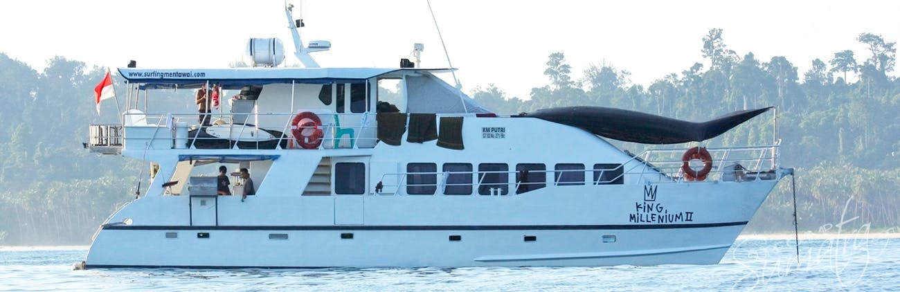 One of the most stylish charter boats operating in Sumatra