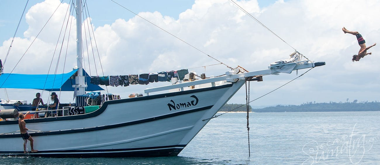 One of the best small charter boats in Sumatra