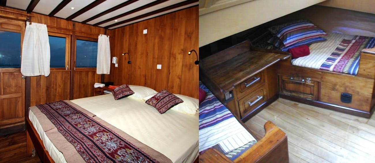 Excellent private cabins