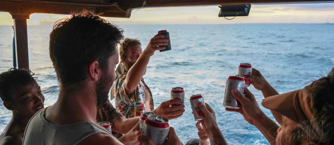 Its always Bintang time on board the Ismari