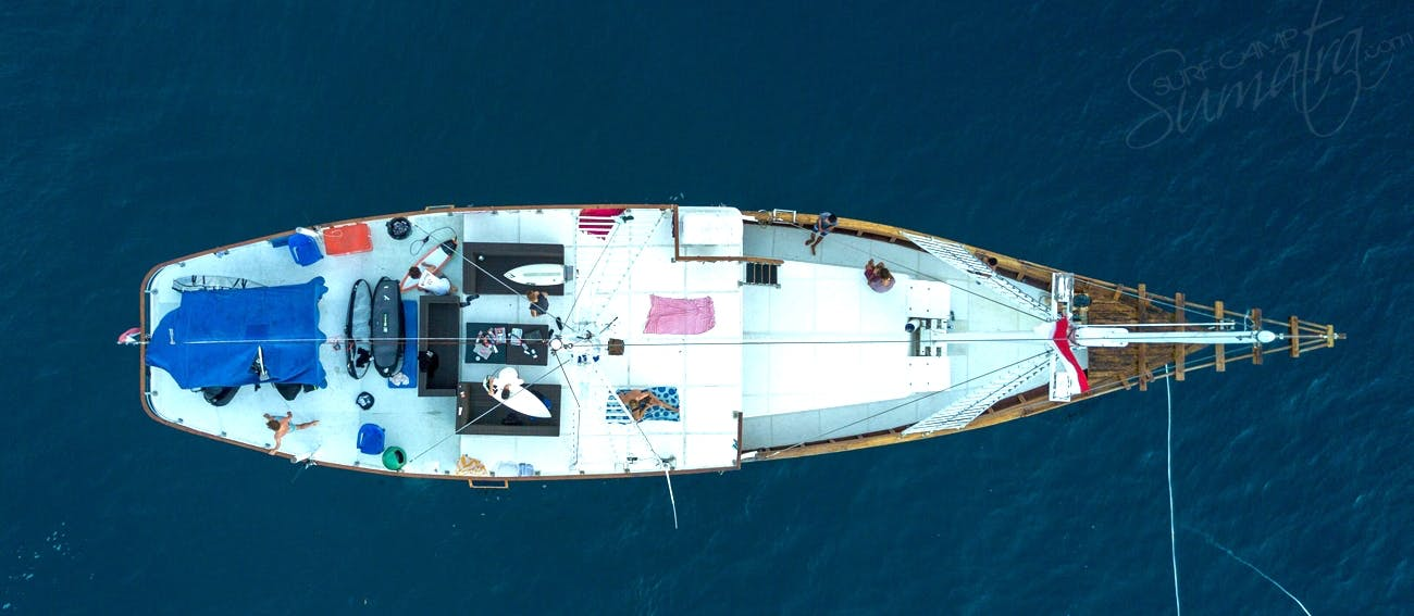 Drone view of the vessel