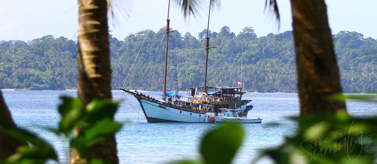 Anchored up in the Mentawais