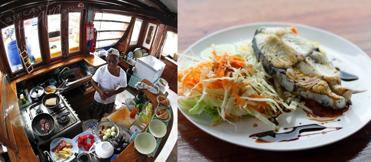 healthy and delicious food served on board