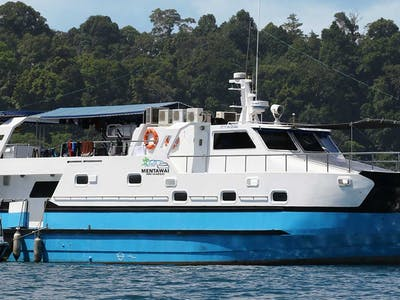 One of the biggest and fastest boats in Sumatra