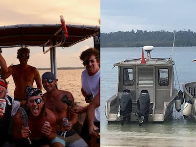 The Benny Laut pictured left and right is available for unlimited surf & fishing trips