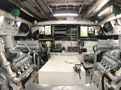 The impressive engine room