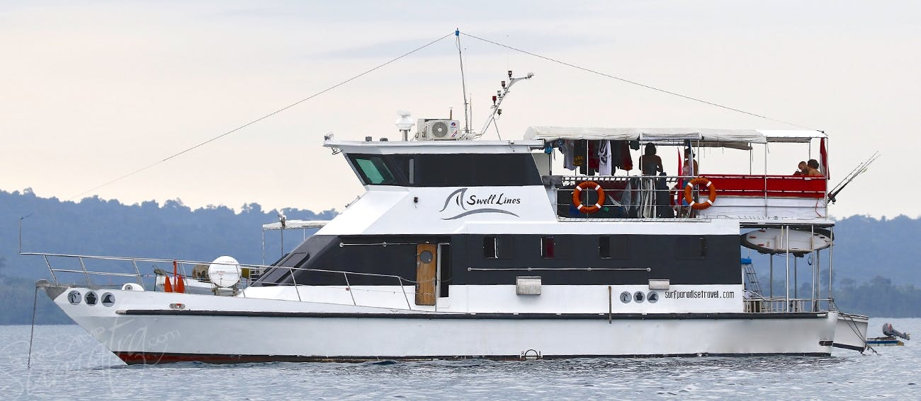 The hull is made from high carbon steel & was custom built for offshore long range charters