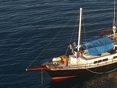 58 feet wooden motor sailor had a recent refit