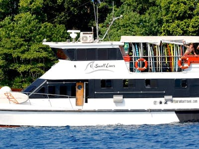 The impressive Swell Lines charter boat