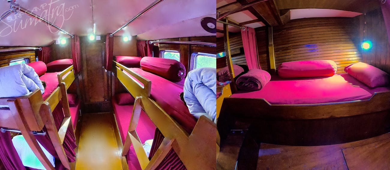 A/C accommodation aboard the Swell Lines