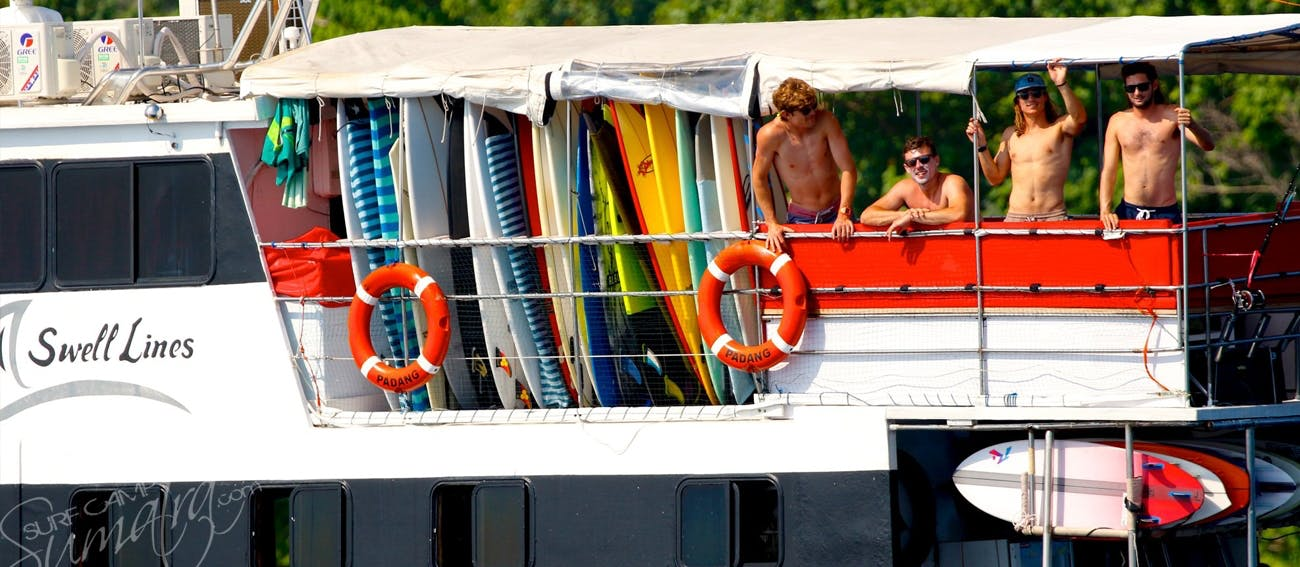 Top deck on the Swell Lines