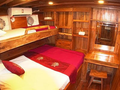Room 3 with a double bed & a single bunk bed