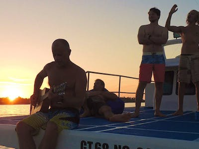 Sunset on the top deck