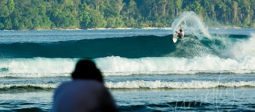 Pasti breaks out the front of Telo Surfing Village