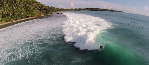 E-bay from above in the Mentawai Islands