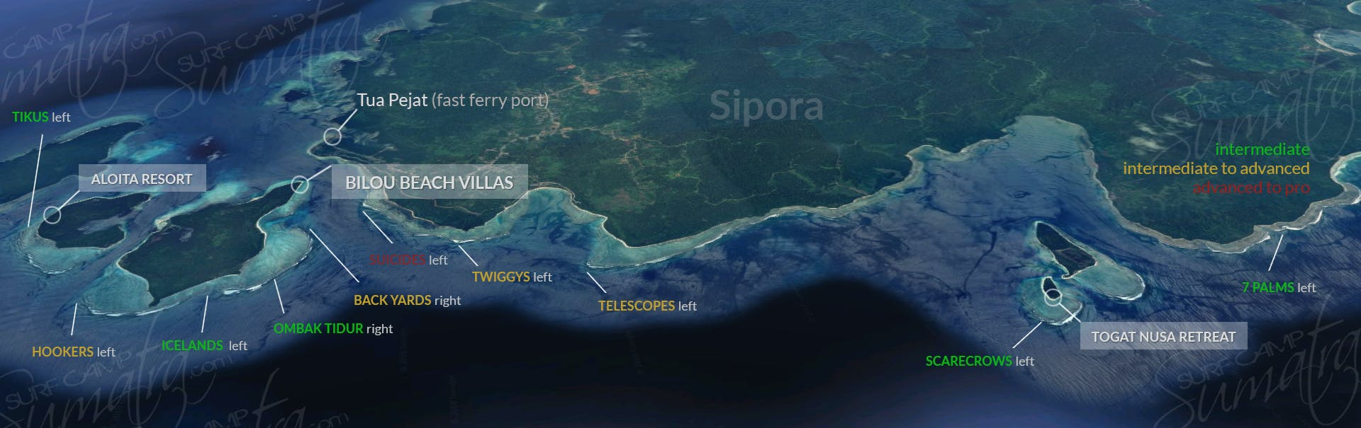 Sipora surf map