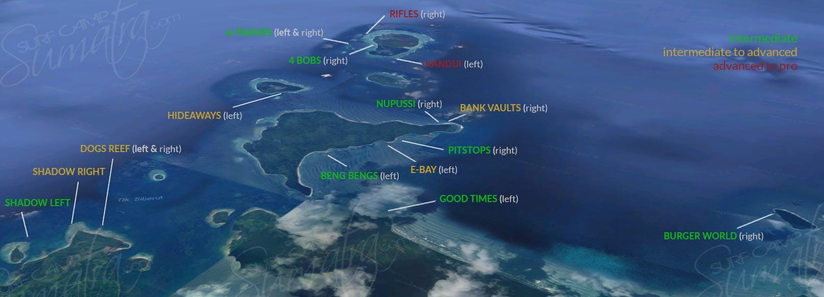 surf mentawai map