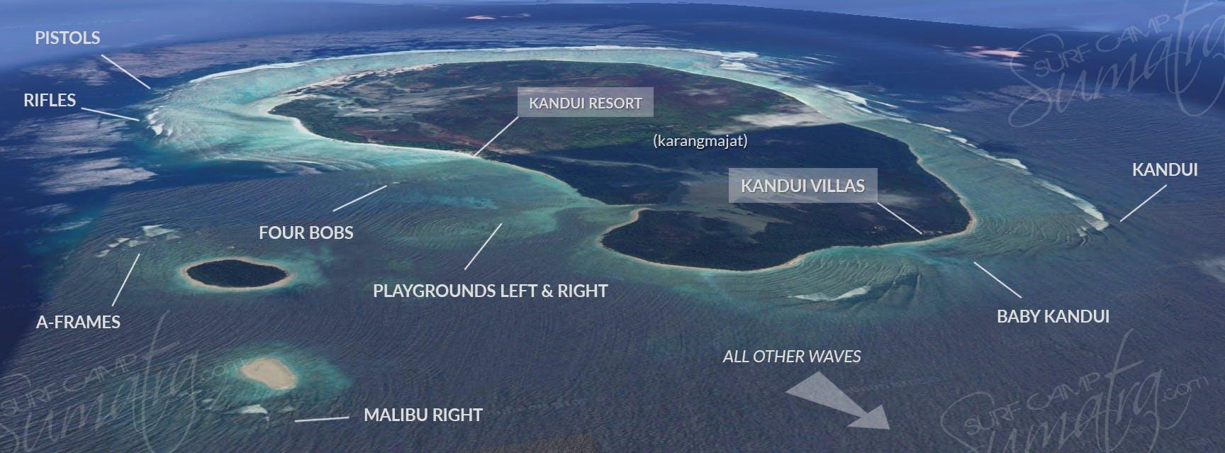surf map kandui